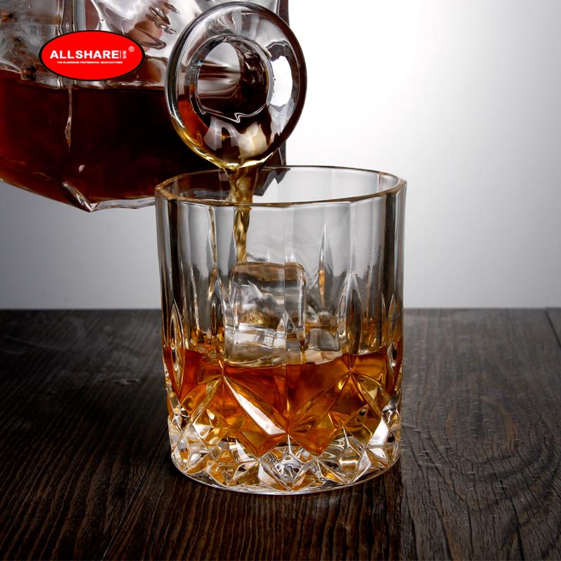 whiskey glass bottle set 05