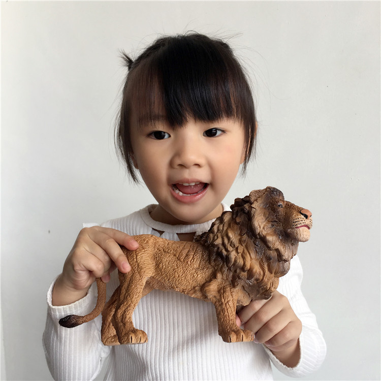 Collection-Toys Simulated Action-Figure Dinosaur Animal-Model Kids Gift PVC Tiger Lion