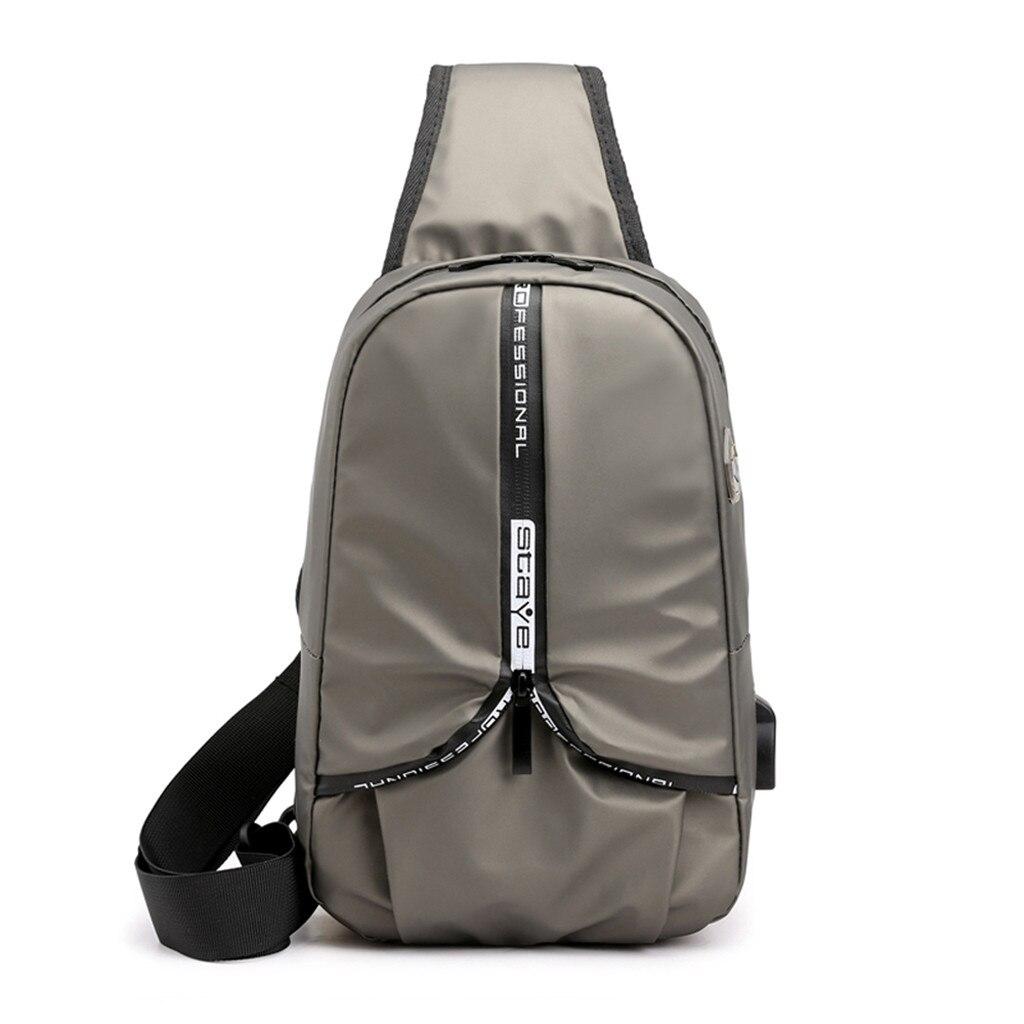 2019 Mannen Vrijetijdsbesteding Mode Waterdichte Nylon Multifunctionele Cross-body Borst Bag Hoge Kwaliteit Toevallige Mannelijke Zakken X