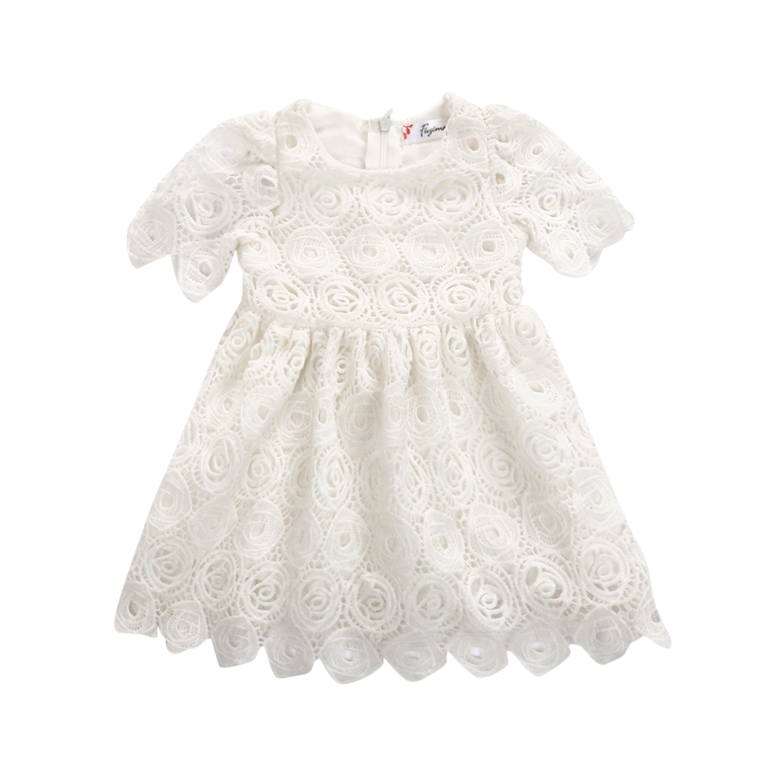 Infant Toddler Baby Girls White Lace Tutu Dress Floral Party Wedding Princess Dresses Easter Costumes for girls