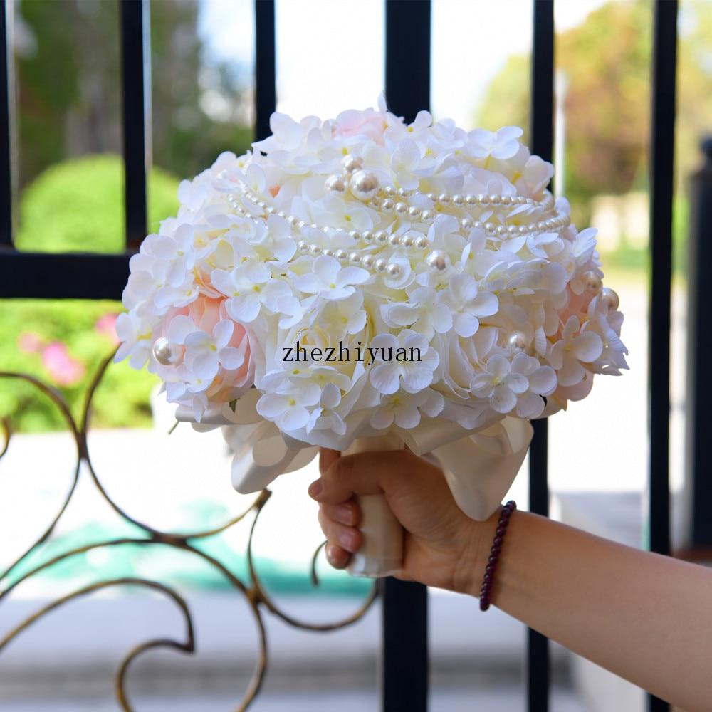 Pink Boquet Flowers bouquet Pears Wedding Bouquets Handmade Bridal Accessories Beautiful Silk Flowers for Bride bridal bouquet