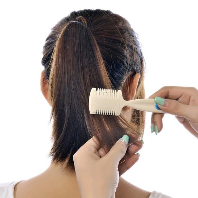 2 In 1 Professional Hair Razor Comb Scissor Home Plastic