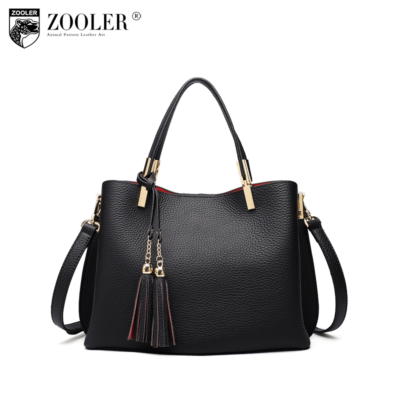 ZOOLER Brand Women Genuine Leather Handbag Luxury Handbags Women Bags Designer Tote Shoulder Bag Lady Bolsa Feminina Sac A Main sales zooler brand genuine leather bag shoulder bags handbag luxury top women bag trapeze 2018 new bolsa feminina b115