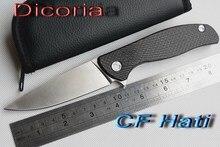 Yidu dicoria 95 hati d2 klinge titanium + kohlefaser griff klapp Jagd tasche outdoor camping küchenmesser messer EDC werkzeug