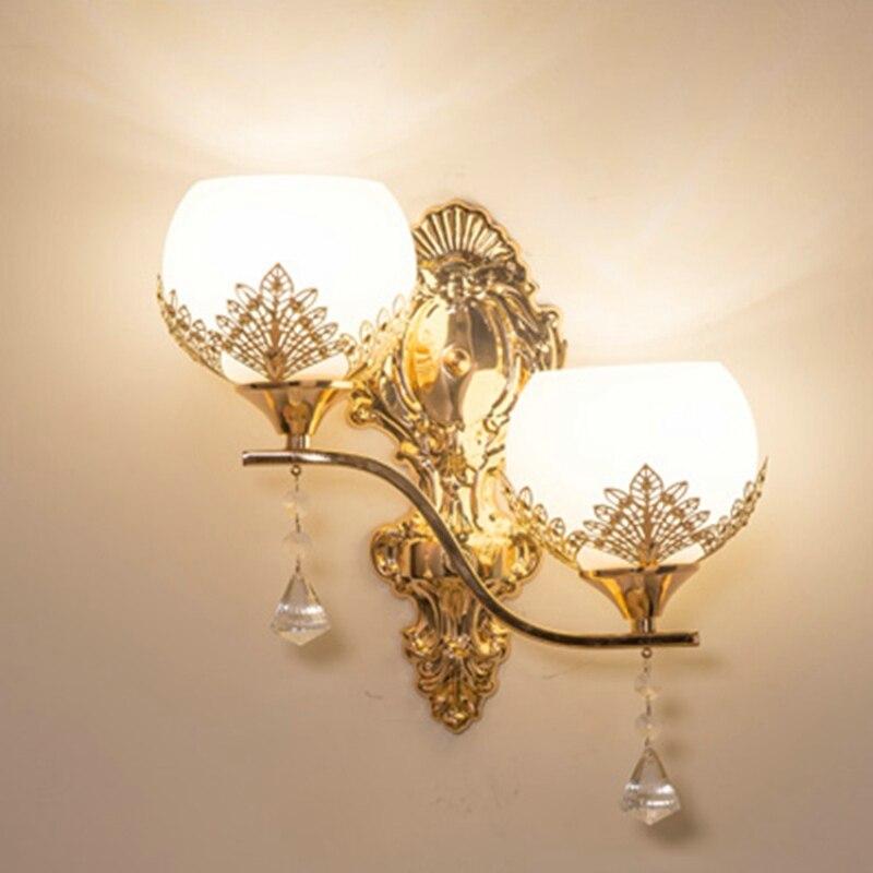 ouro luz da parede quarto lampadas leitura 03