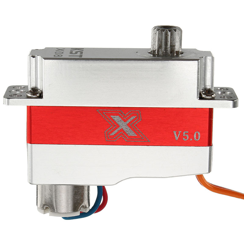 купить Original KST X08 V5 3.8-7.4V 8g Metal Gear Micro Digital Servo For RC Robot Module UAV Airplane For RC Helicopter Spare Parts дешево