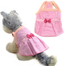 Pet Dog Clothes Puppy Summer Princess Sleeveless Bow Lattice Dress Top Apparel Clothing
