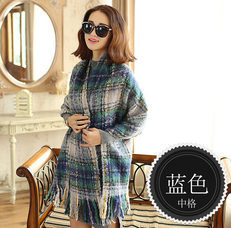 Amazing New Arrival Wool Blend Blanket Oversized font b Tartan b font Winter Scarf Women Wrap