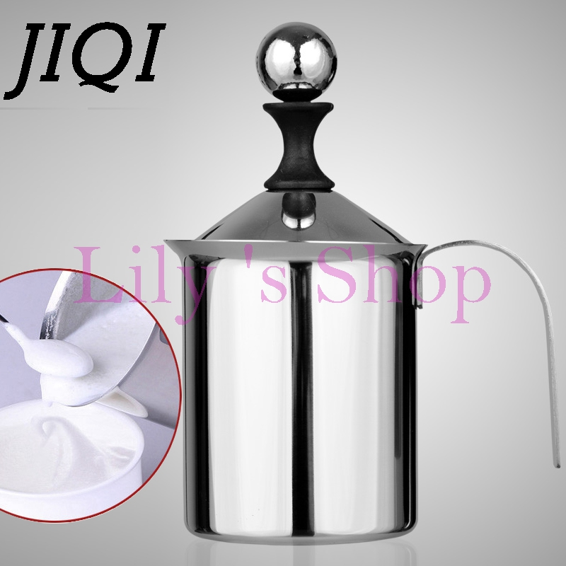 Manual Double Mesh Milk Frother Milk Foamer cup latte cup Milk Foam Maker Fancy coffee Tool cup foam bubble machine high quality 220v commercial single double head milkshake machine electric espresso coffee milk foam frother machine bubble maker