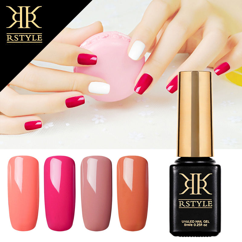 Rstyle 8ml 32 Pure Color Gel Nail Polish For Nail Extension Design