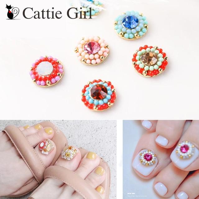 1311d496fae US $1.41 25% OFF Aliexpress.com : Buy 1pc Bohemia Nail Rhinestones Flower  Nails Beads Charming 3D Nail Art Crystal Charms Design for UV Gel Nail ...