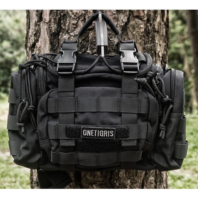 OneTigris Tactical MOLLE Hunting Waist Bag Pack For Men 3 Ways Modular Deployment Utility Bag Heavy Duty with Shoulder Strap