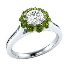 Huitan Romantic Flower Finger Ring Fashion Birthday New Years Gift For Girlfriend Daily Accessories Plant Women Hot