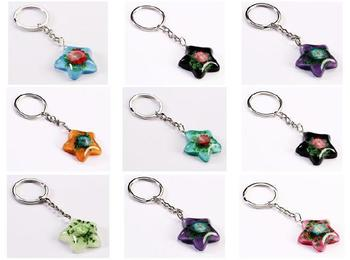 FREE SHIPPING 50PCS Real China Mix Colorful Rose Keychain Flower Charm - Valentines