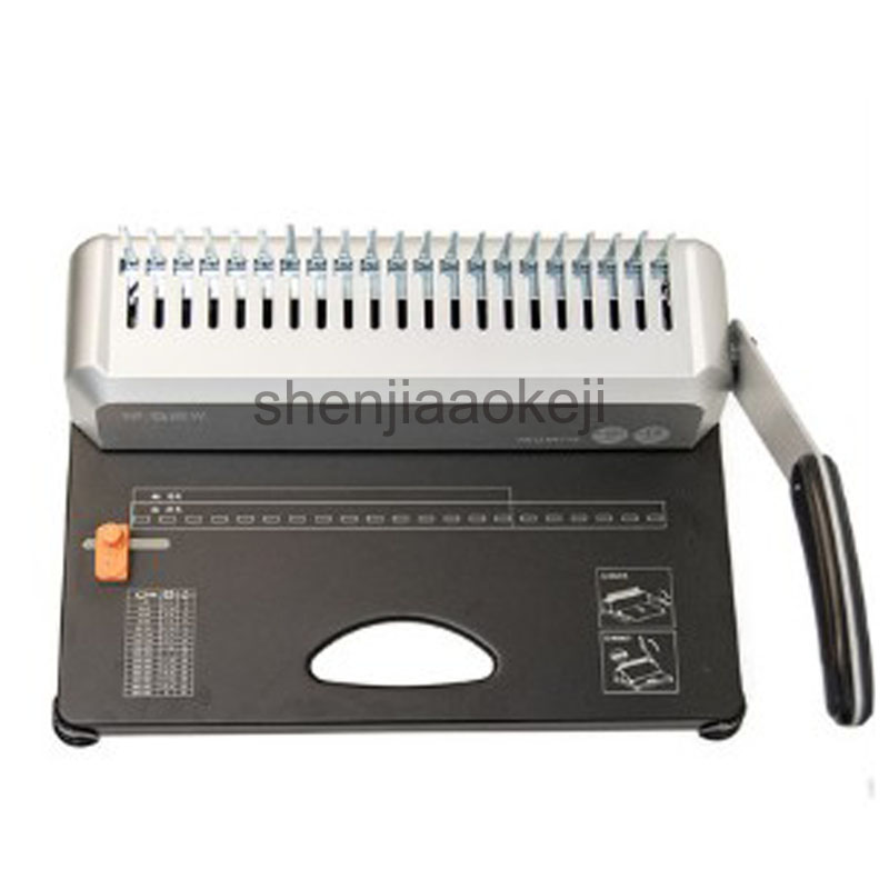 все цены на A4 Paper 21 Holes Binding Machine Puncher Binder12 Sheets Punching and Binding Office Home Tools A4, A5
