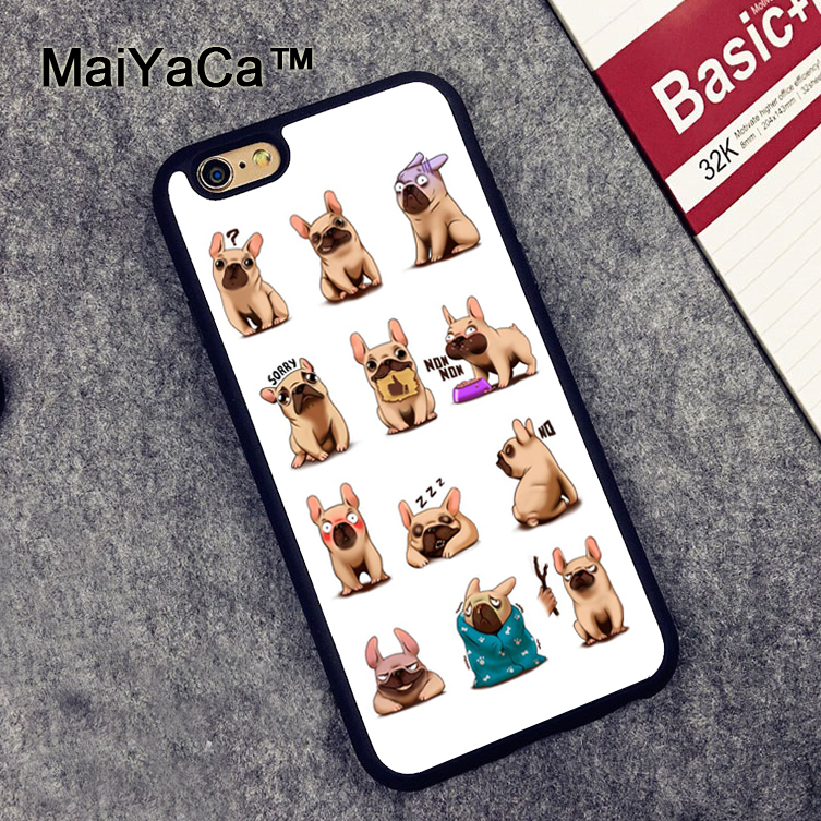 ∞Maiyaca bulldog francés patrón goma suave móvil Fundas para ...