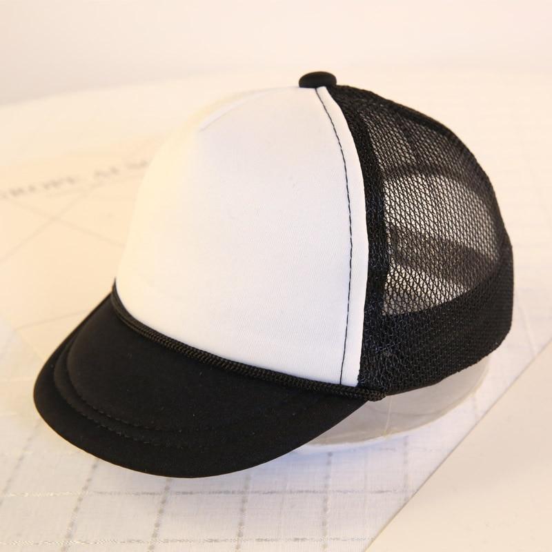 2018 Fashion Baby Hats For Boys Girls Baseball Cap Children Snapback Cap Boys Mesh hat Cotton Blank Summer Cap for 0-7Months