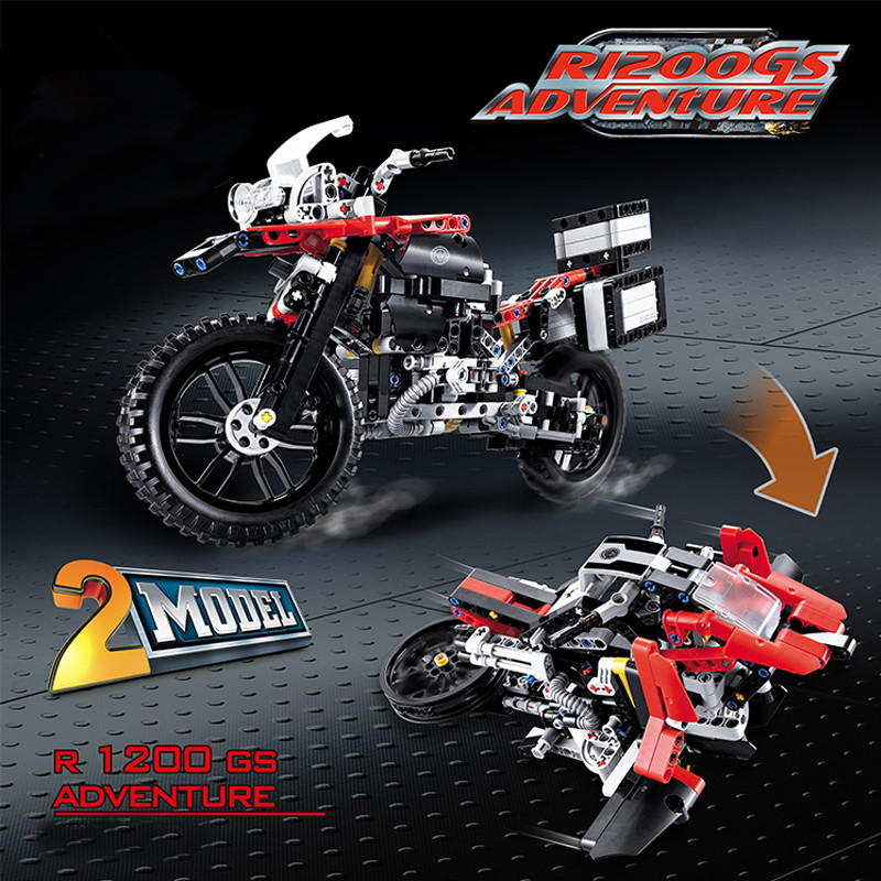 New Technic Series The Off-road Motorcycles R1200 GS fit legoings technic city Building Blocks Bricks 42063 diy Toys kid gift