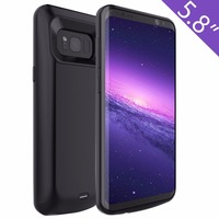 Battery Case 5000mAh Rechargeable External Portable Charger Protective Charging Cases Power Bank Cover for Samsung Galaxy S8 5.8