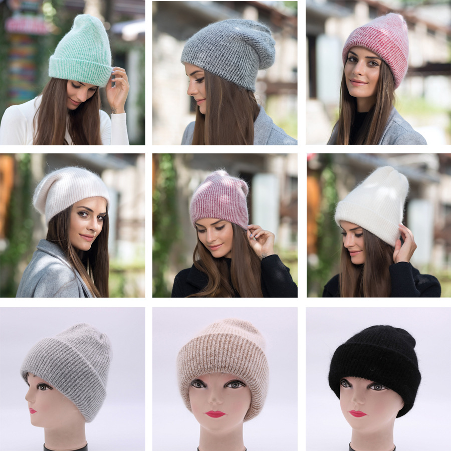 2017 New Autumn Winter Beanies Hats For Women Knitting Warm Wool Skullies Caps Ladise Hat Pompom Gorros (2)
