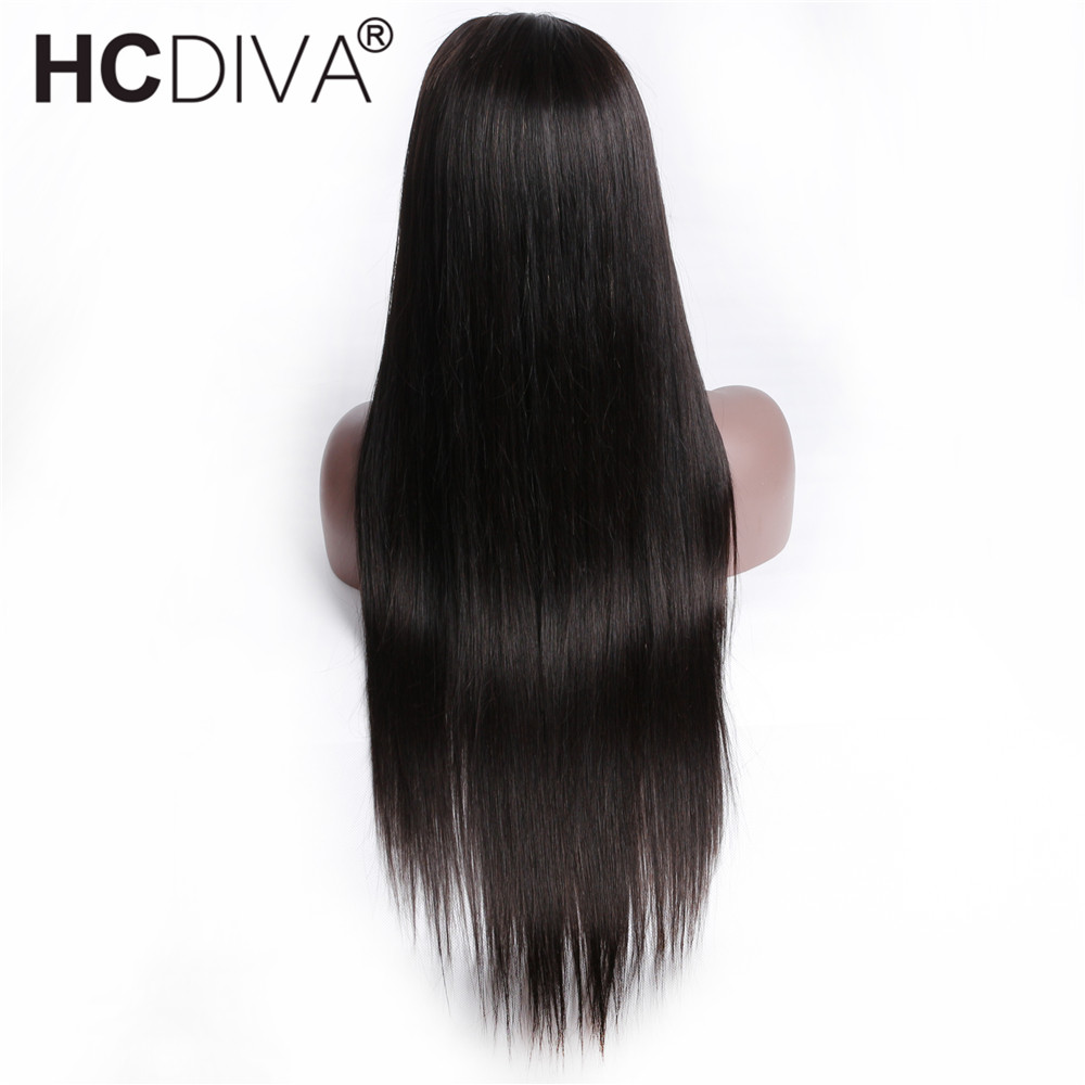 Image 2 - 360 Lace Frontal Wig Pre Plucked With Baby Hair Brazilian Straight Lace Frontal Human Hair Wig Remy Lace Wig For Black Women-in Human Hair Lace Wigs from Hair Extensions & Wigs