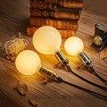 Leite Branco LEVOU Lâmpadas de Luz G80 G95 G125 E27 Retro Para Luz filamento Globo de Vidro Da Lâmpada Do Vintage Antigo Lâmpada Led Para Casa