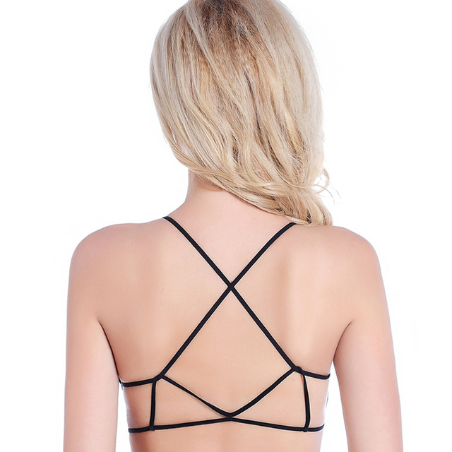 200PCS/LOT 2017 new style Fashion Strappy Sexy Cut Out Bustier Cropped Tops for women Vest