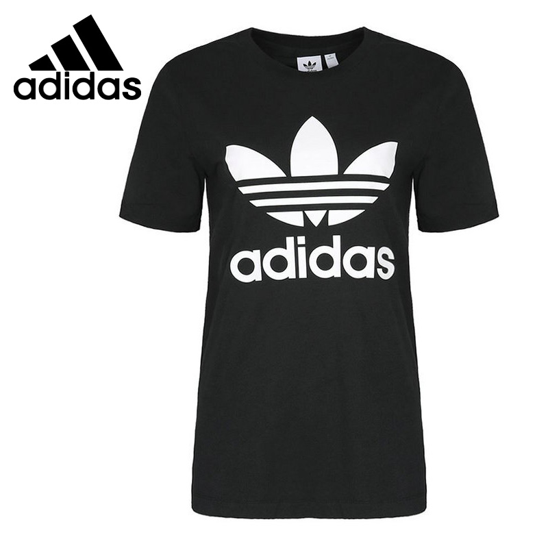 Original New Arrival 2018 Adidas Originals TREFOIL TEE Womens T-shirts short sleeve SportswearOriginal New Arrival 2018 Adidas Originals TREFOIL TEE Womens T-shirts short sleeve Sportswear