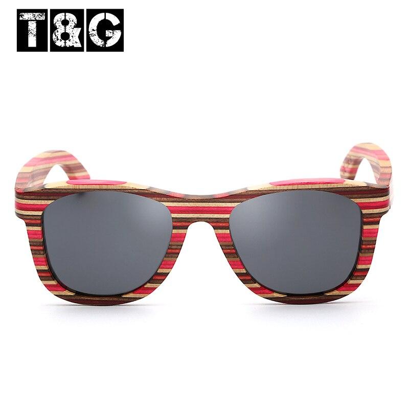 tg pink zebra wood square sunglasses with polarized lens light floating frames w bag driving