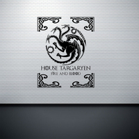 DIY Removable Wall Stickers Inspired By Game Of Thrones Targaryen Family Crest Black Sticker Mural For
