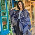 Imitation cashmere scarf tassel women mentel Euro 2016 autumn winter vintage pattern thicken warm ladies scarves 150*130cm WJ16