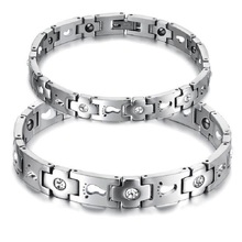 Free Shipping Quantum Bio Energy Anium Steel Bracelet With Magnetic Stone Health Jewelry Gs3357