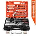 82 conjuntos de chave de catraca conjunto chave de soquete conjunto de ferramentas de manutenção do automóvel do automóvel ferramenta de combinação de manga, ferramenta de Pneu