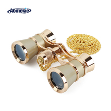 AOMEKIE 3X25 опера очки бинокль металлический корпус с цепочкой/ручкой оптические линзы театральный телескоп Ретро дизайн для женщин подарок для девочек