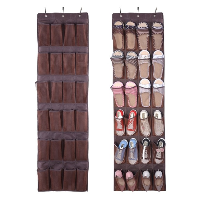 24 Pocket Door Organizer Hanging Storage Bag Shoes Rack Shoes Organizer  Space Saving Shoe Cabinet Wall