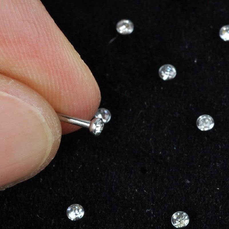 60 stks / set Crystal Rhinestone Neusring Mode Lichaam Sieraden Neus - Mode-sieraden - Foto 5