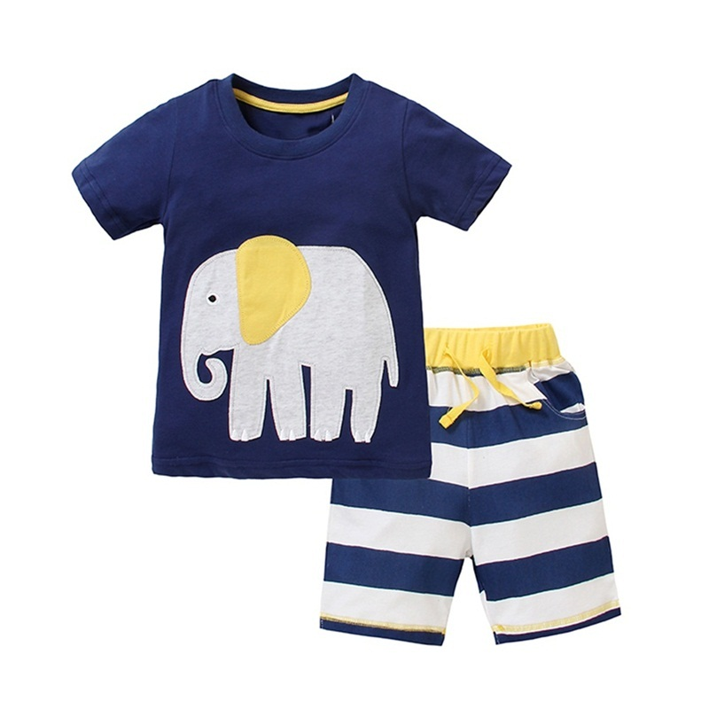 Retail Kids Clothes Set Summer Casual Boys Clothing Sets Children T-shirt+Short Pants Sport Suit for Boy Outfits Neat JB228 Mix new summer style children clothes short t shirt and jeans short pants hat clothing casual set kids clothes boy suit for boys