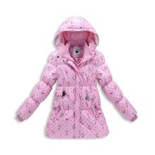 New Brand Baby Girls Clothes 2017 Winter Plus Thick Velvet Hooded Kids Jackets Coats Fashion Warm Down Parkas Girls Outwears