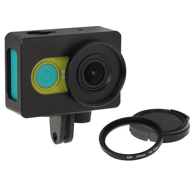73f2733ed9e1 Для Сяо Yi чехол Xiaomi xiaoyi Камера Интимные аксессуары Корпус В виде  ракушки металлический защитный клетка с адаптер + UV фильтр объектива