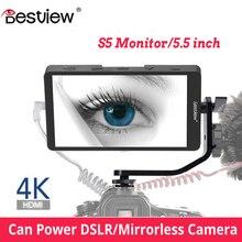 Bestview S5 5.5 นิ้ว 4K หน้าจอสำหรับ SONY NIKON CANON DSLR ZHIYUN สำหรับกล้อง nikon hdmi การตรวจสอบ field studio 4k