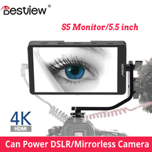 Bestview S5 5.5 calowy ekran 4K dla SONY NIKON CANON DSLR ZHIYUN Monitor dla aparat NIKON monitorowanie hdmi pole studio 4k
