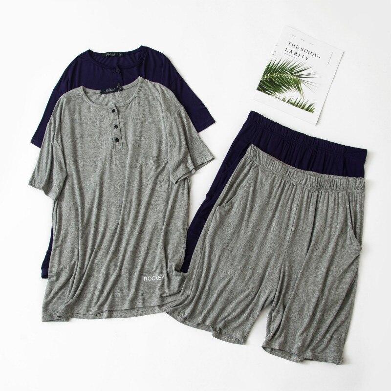 Shorts-Set Pajamas-Set Korean-Edition Men's Summer Modal