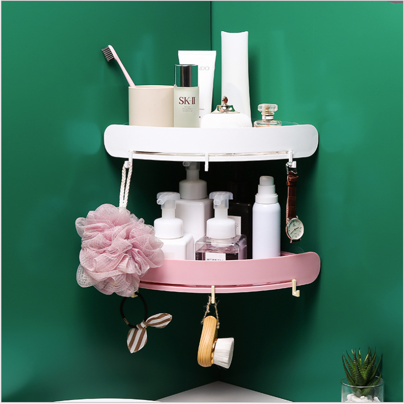 LOT Bathroom Triangular Shower Shelf Corner Bath Storage Holder Organizer Rack