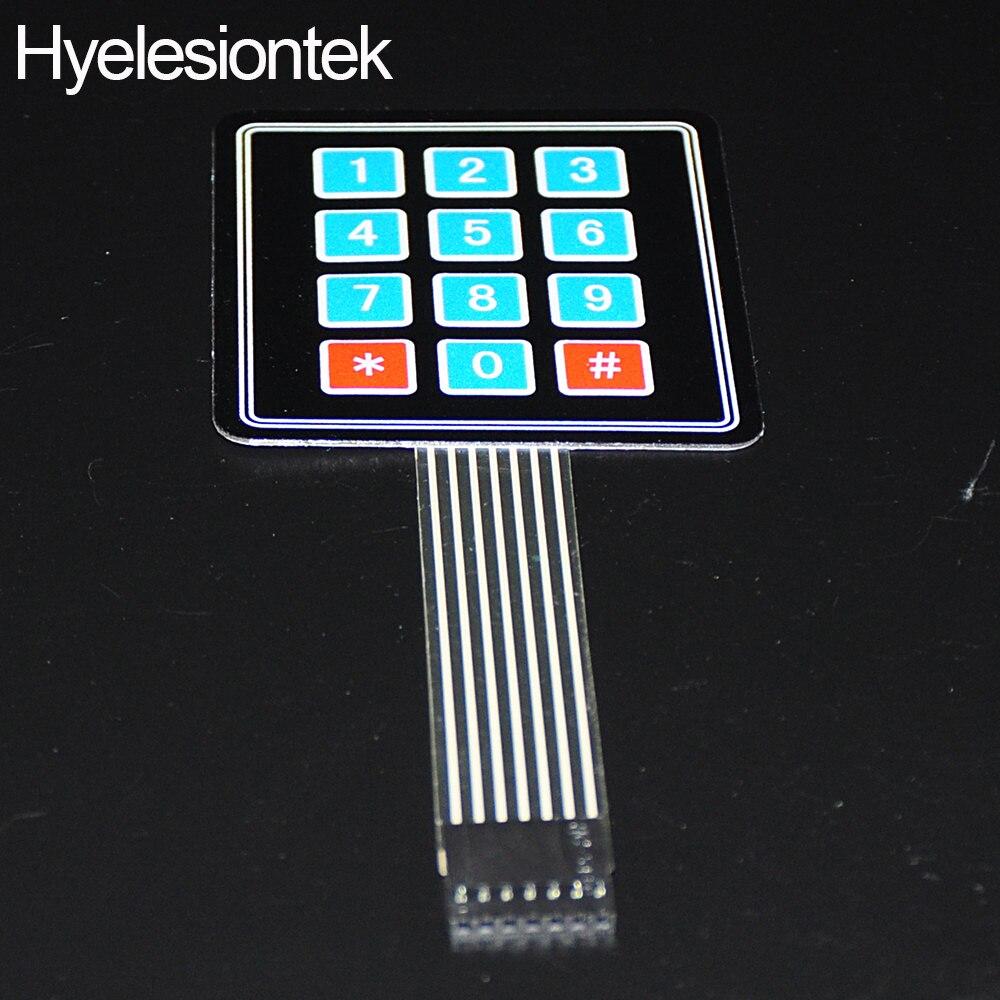2pcs 3X4 Matrix Keyboard Arduin Array Module 12 Key Membrane Switch Expansion Keypad Panel 3 4