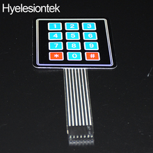 2pcs 3X4 Matrix Keyboard Arduin Array Module 12 Key Membrane Switch Expansion Keypad Panel 3*4 Control Microprocessor AVR