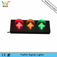 Mini Stainless Steel 100mm AC 85-265V Red Yellow Traffic Signal Arrow Light
