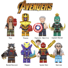 Avengers 4 Endgame Legoed Marvel Minifigured Thor Iron Man Thanos Infinity Gauntlet Building Blocks Figures Children Gift Toys