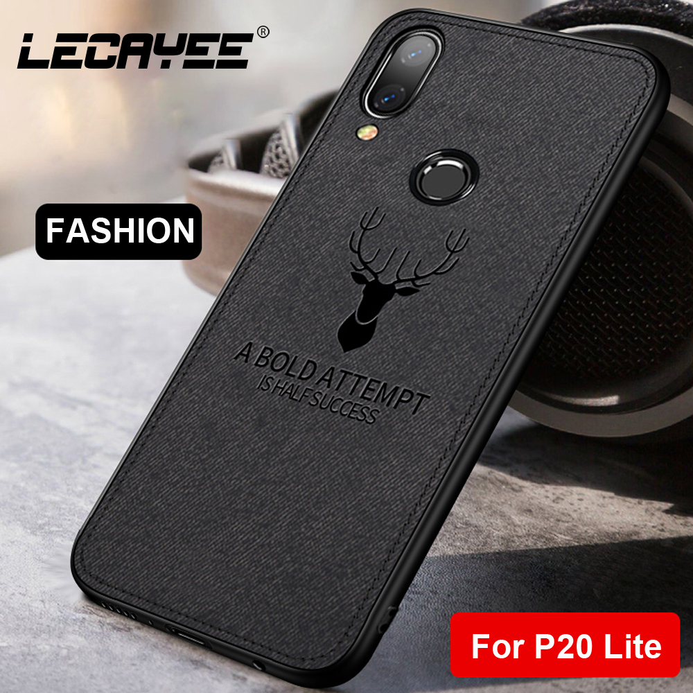 LECAYEE For Huawei P20 Lite Cover Cloth DEER Phone Protective Case for Pro Nova 3 3i 3e 2s Soft Back