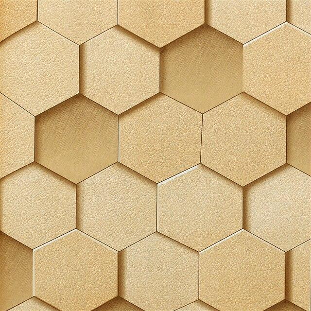 3D Effet Hexagone En Nid D\'abeille Papier Peint En Vinyle dans Fonds ...