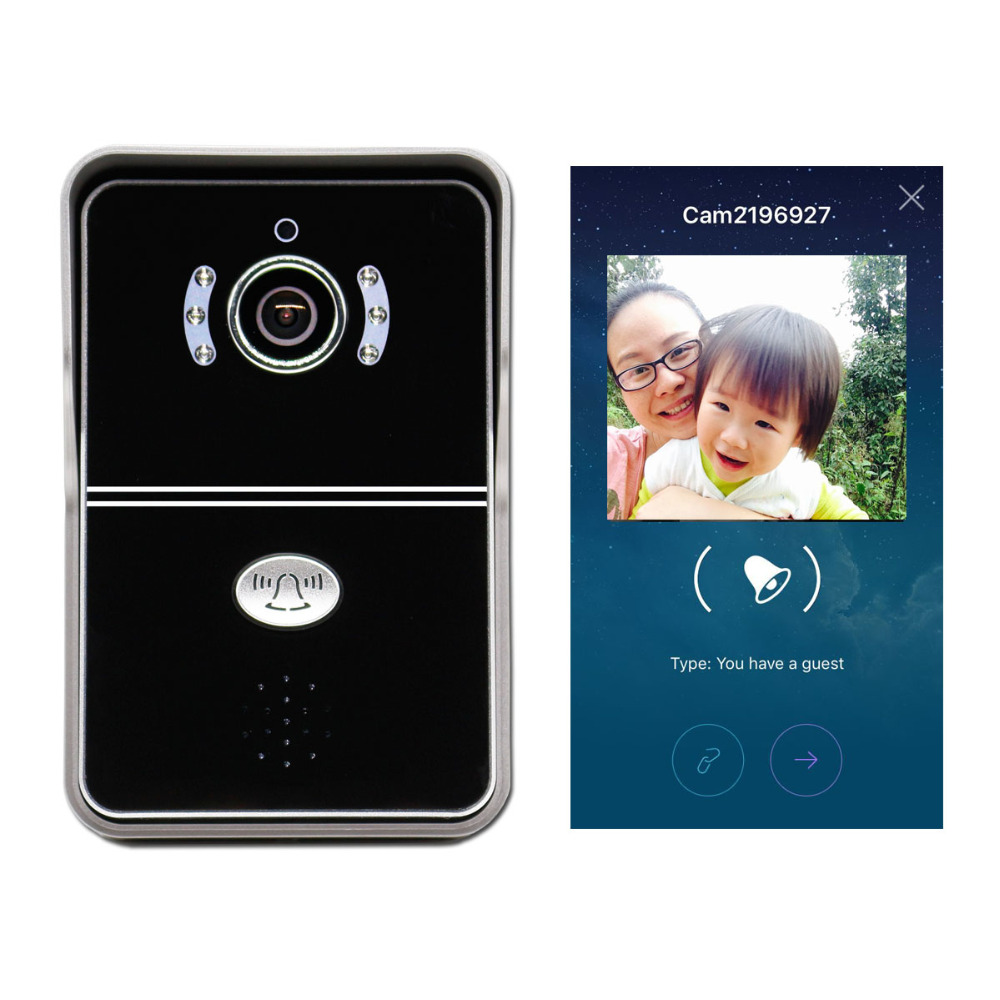 eBell ATZ DBV04P Smart Wireless IP WiFi Video Doorbell with HD 720P IP Camera Intercom Support